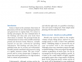 Writing articles for scientific journals: a basic guide